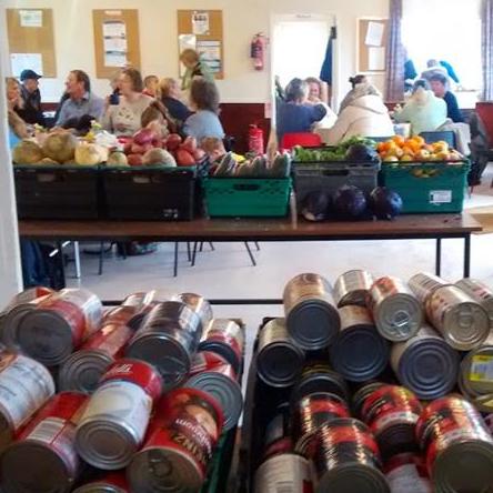 food bank - tins of food