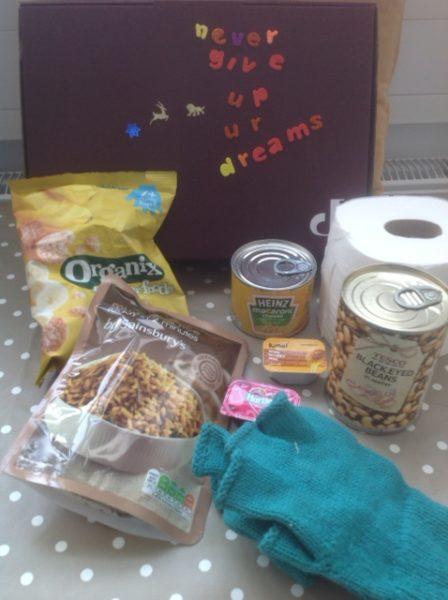Brighton Voices in Exile food parcel