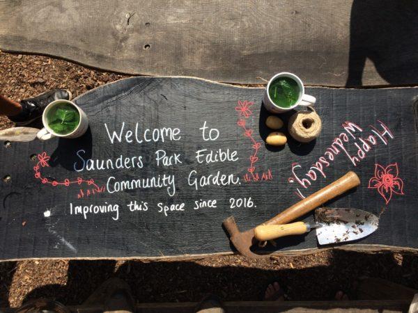 Saunders Park chalkboard