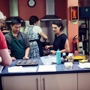 Cookery Session at a community kitchen