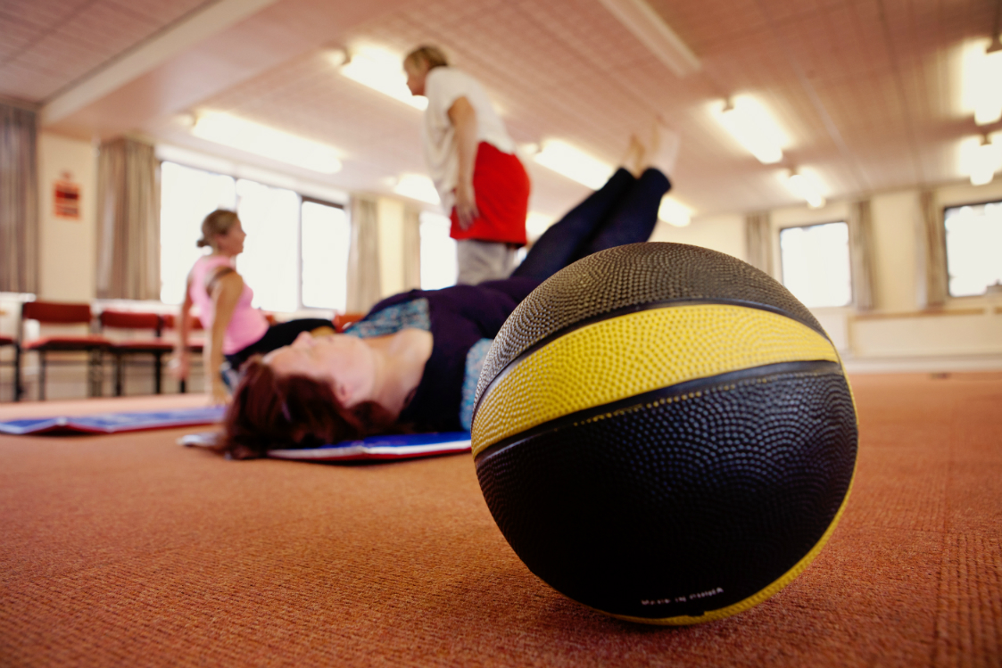 Shape up exercise class - ball