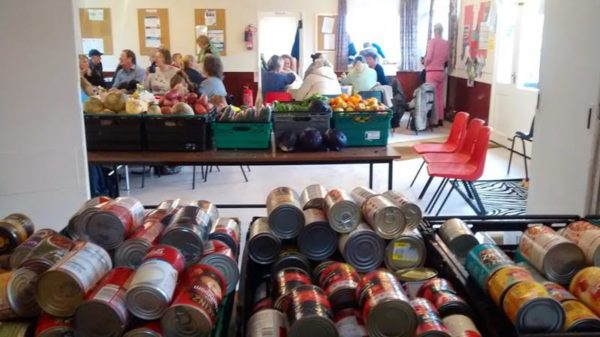 Bevendean food bank - tins of food