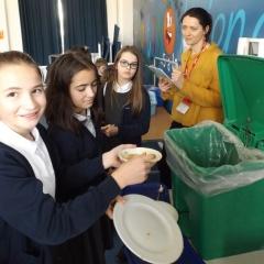 children and school meal bin