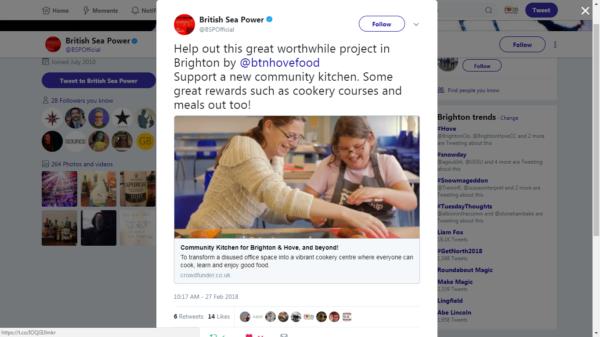 Tweet from British Sea Power