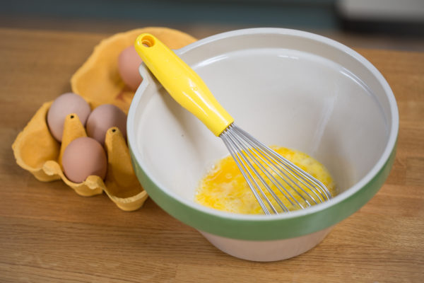 eggs whisk and bowl
