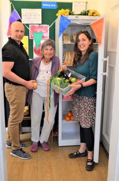 Launch of community fridge at Phoenix centre