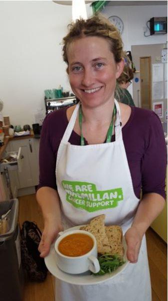 Emma at Macmillan cafe