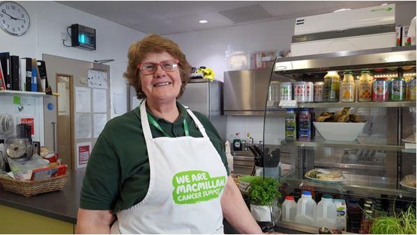 Lyn Volunteer at Macmillan cafe