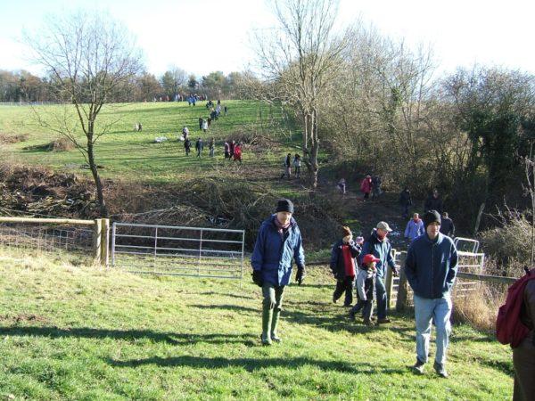 Tablehurst Farm group walking