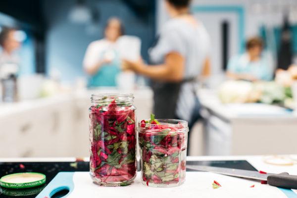 fermented beetroot in jar