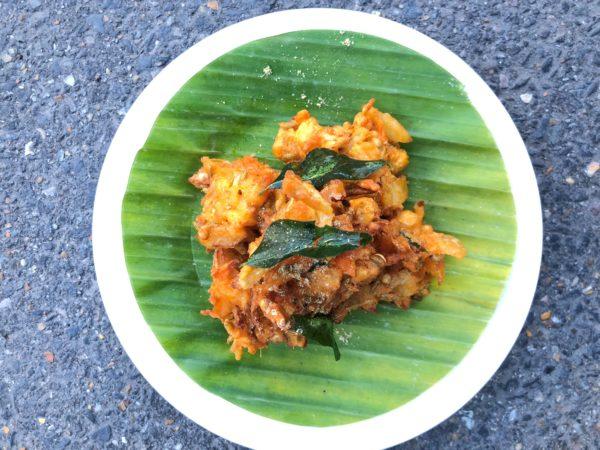 pakora on a plate
