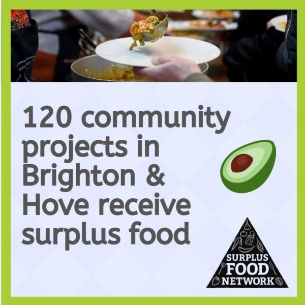 Community projects receive surplus food