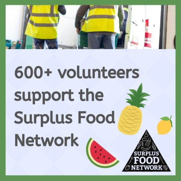 Volunteer surplus food network tile