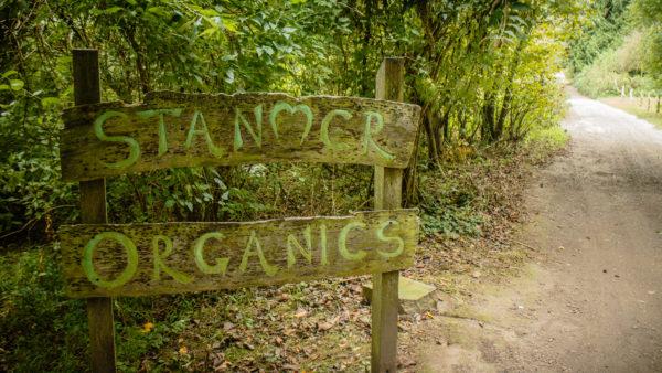 Stanmer Organics sign