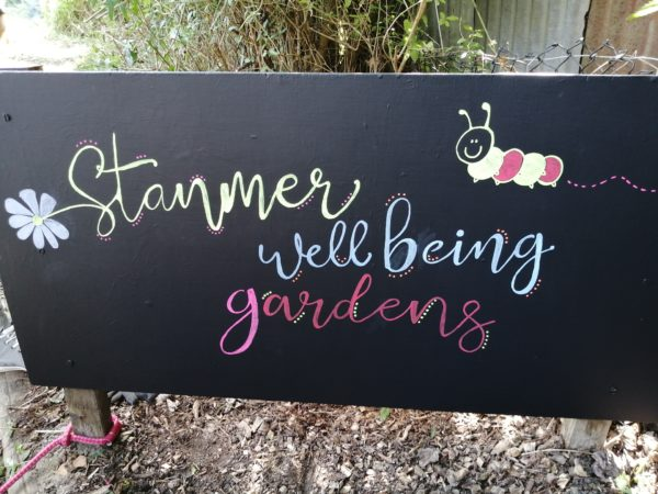 Stanmer Wellbeing Gardens Sign