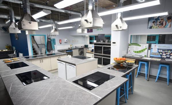 community kitchen wide shot