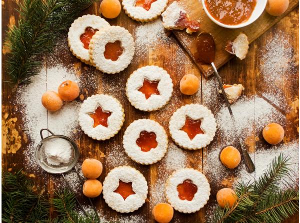 linzer biscuits cookies